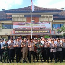Kapolresta Pimpin Apel Kesiapan Pengamanan Pemilihan Perbekel Serentak