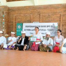 """Dukung Karya Agung """"Pengurip Gumi"""" di Pura Batukaru, Bank BPD Bali Serahkan Bantuan Rp100 Juta"""