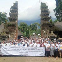 Dukung Karya Agung Pengurip Gumi, Suka Duka PLN Bali Perbaiki Instalasi Penerangan di Pura Luhur Batukau