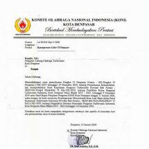 KONI Akui Pengurus Cabor Taekwondo Denpasar Masa Bhakti 2019-2023