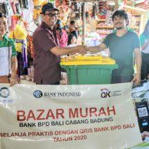 Bazar Murah BPD Cabang Badung, Kenalkan Belanja Praktis dengan QRIS