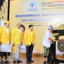 Wagub Buka Musda Partai Golkar, Harap Dukung Nangun Sat Kerthi Loka Bali