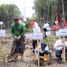Rangkaian Tanam 50 Ribu Pohon, Mowilex Donasikan 5.000 Bibit Hijaukan Kembali Lahan Mangrove di Tukad Mati