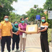 """Cegah Penyebaran Covid-19, """"Hanura Peduli"""" Bantu 2.000 Masker di Buleleng"""