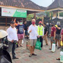 Antisipasi Wabah Corona, Banjar Eka Dharma Libatkan STT Dalam Melakukan Penyemprotan Disinfektan