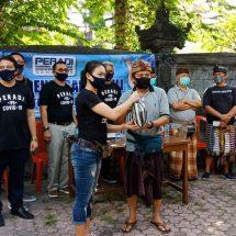 PERADI Denpasar Bantu Komunitas Masyarakat Kerta Yoga Sembako dan Masker
