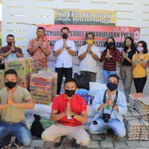 Polda Bali Salurkan Seratus Paket Sembako Kepada  Mahasiswa Manggarai