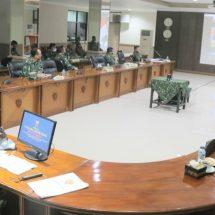 Pangdam Udayana Laporkan Peran dan Keterlibatan TNI dalam Penanganan Pandemi Covid-19 Melalui Vidcon Kepada Panglima TNI