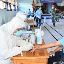 Seluruh Prajurit dan PNS Lanal Denpasar Jalani Rapid Test, Danlanal: Semuanya  Non Reaktif Covid-19