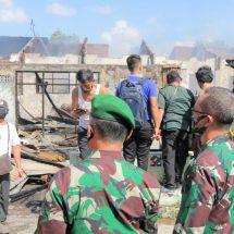 Diduga Korsleting, Lima Rumdis TNI di Asrama Sudirman Terbakar