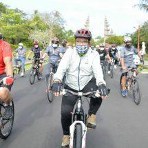 'Gowes Bareng', Wagub Bali: Penting Menjaga Imun Tubuh Agar Terhindar Covid-19
