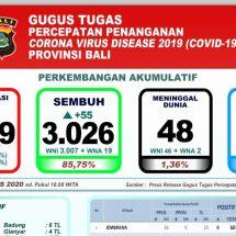 Perkembangan Covid-19 di Bali, Pasien Dirawat  Tinggal 455 Orang