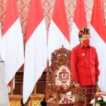 Gubernur Koster Ikuti Peringatan Detik-Detik Proklamasi di Istana Merdeka Secara Daring