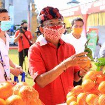 Gubernur Koster Buka Pasar Gotong Royong Di Kantor BI Perwakilan Bali