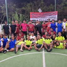 Pererat Tali Persaudaraan, Pemuda Bali Gelar Pertandingan Persahabatan Futsal dan Bagi-bagi Bingkisan ke Saudara Papua