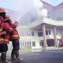 Simulasi, Kantor PLN UID Bali Terbakar