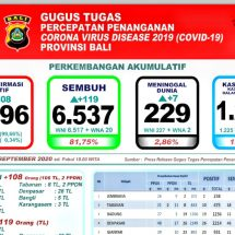 Lagi Tujuh Pasien Covid-19 di Bali Meninggal, Total Capai 229 Orang