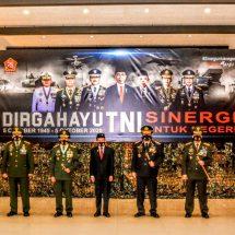 Pangdam Udayana Bersama Forkopimda Bali Ikuti Upacara HUT Ke-75 TNI secara Virtual