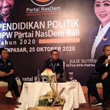NasDem Bali Gelar Pendidikan Politik, Harapkan Lahir Kader-kader Muda Potensial