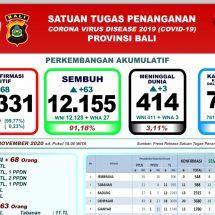 Covid-19 di Bali: Meninggal Bertambah Tiga, Total 414 Orang