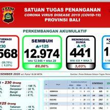 Perkembangan Covid-19 di Bali: Pasien Positif Bertambah 230, Meninggal Lima Orang