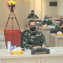 Kesiapan Hadapi Pilkada, Kasdam Udayana Ikuti Rakor Satgas Covid-19 Nasional