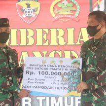 Kunjungi Perbatasan RI-RDTL, Pangdam Udayana Berikan Motivasi dan Bantuan untuk Mendukung Tugas Satgas Pamtas
