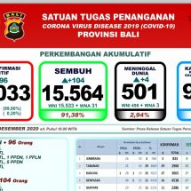 Update Penanggulangan Covid-19 di Bali: Lagi Empat Pasien Meninggal, Total 501