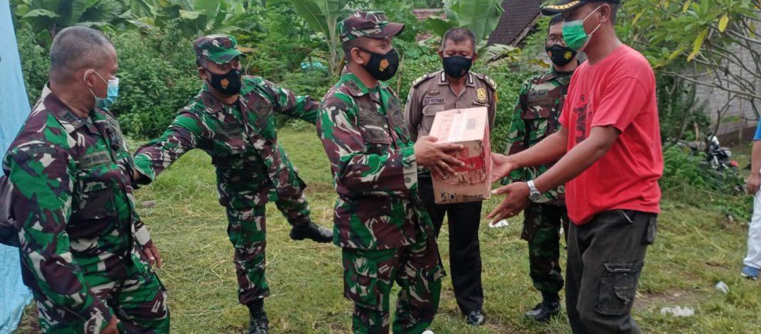 Wujud Kepedulian TNI, Dandim Jembrana Sambangi Warga Terdampak Bencana