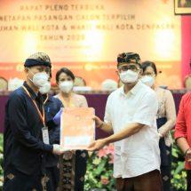 Penetapan Paslon Terpilih, Jaya Negara-Arya Wibawa Raih 81,24 Persen Suara Sah