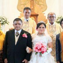 Haru, Pernikahan Unik Pasangan Tuna Netra Katolik di Geraja Katedral dengan Wali Pasutri Muslim