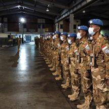 Mabes TNI Berangkatkan Satgas Batalyon Gerak Cepat TNI ke Afrika Tengah