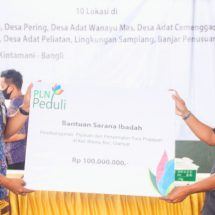 PLN Serahkan Bantuan CSR/ TJSL Rp1,1 Miliar Untuk Pembangunan Masyarakat Bali