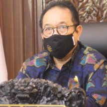 Wagub Cok Ace Ikuti Pembukaan Rakornas Penanggulangan Bencana Tahun 2021