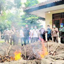 Karantina Denpasar Musnahkan 1,7 Ton Daging Celeng Ilegal Masuk Bali