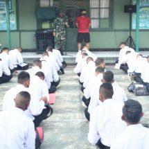 Dandim Ternate Beri Arahan kepada 209 Calon Tamtama PK TNI-AD Gelombang I Tahun 2021