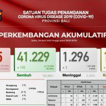 Update Penanggulangan Covid-19 di Bali, Sembuh Bertambah 105, Meninggal Tiga