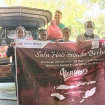 Astra Motor Bali Salurkan Bantuan Sembako Korban Bencana Alam Banjir