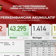 Update Penanggulangan Covid-19 di Bali: Positif Bertambah 74, Sembuh 116 Orang
