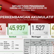 Update Penanggulangan Covid-19 di Bali, Kasus Aktif 460 Orang