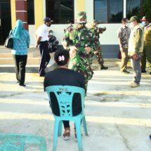 Dandim Bersama Muspida Ternate Tinjau Vaksinasi Massal Covid-19 di Pulau Batang Dua