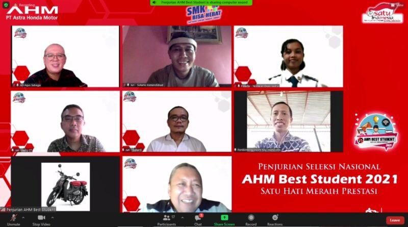 Seleksi Tingkat Nasional, Dua Siswa SMAN Bali Mandara Lolos Ikuti Penjurian AHM Best Student 2021 Melalui Virtual