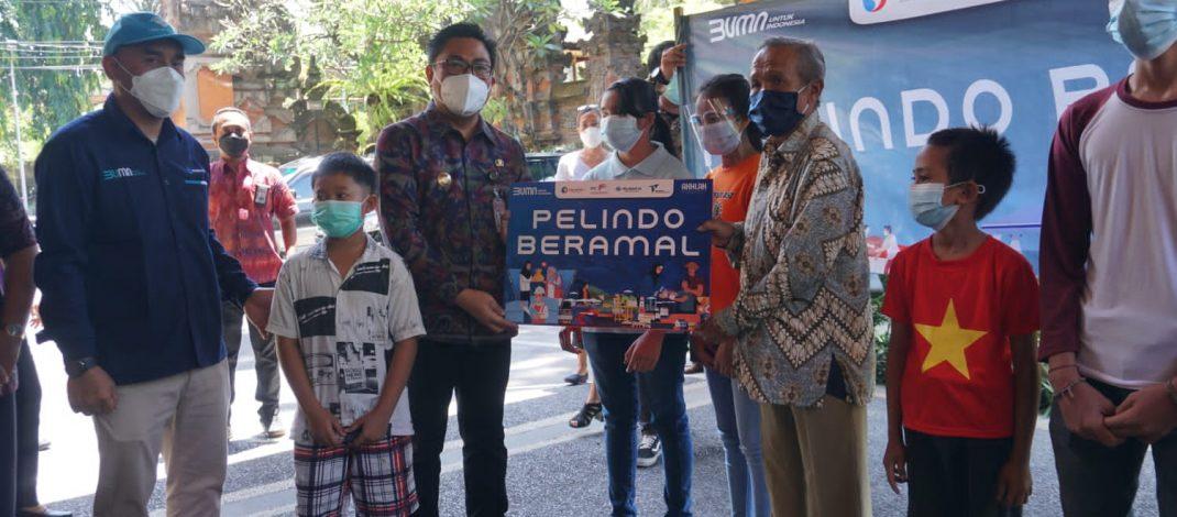 Pelindo III Regional Bali Nusa Tenggara Salurkan Bantuan Bagi 400 Anak Yatim dan Dhuafa di Denpasar
