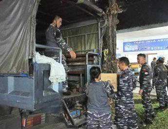 Lanal Denpasar Kirim Bantuan Korban Gempa Karangasem